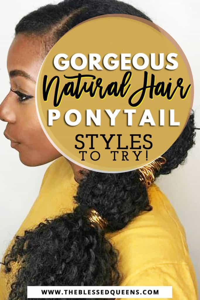 Natural Hair Ponytail Styles