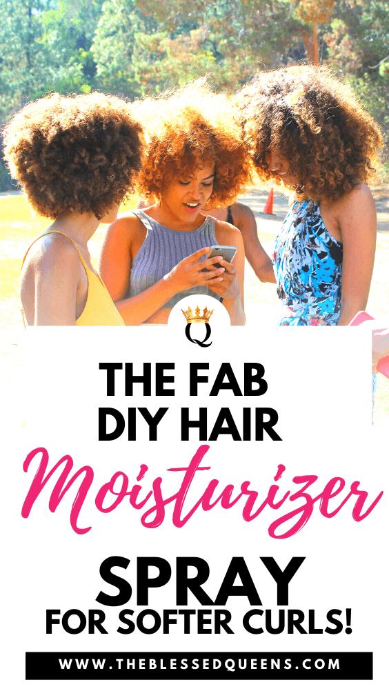 The Fab Diy Hair Moisturizer Spray For Softer Curls!